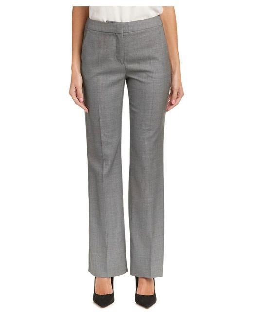 Max Mara - Gray Wool & Silk-blend Pant - Lyst