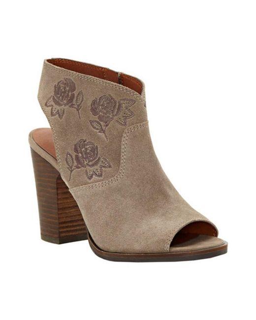 Lucky Brand - Brown Women's Listana Block Heel Sandal - Lyst