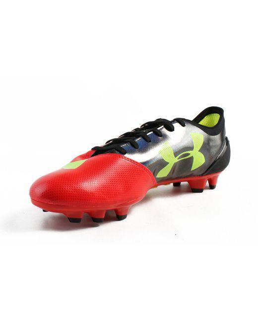 8edc3b67a ... Under Armour - Red Mens Ua Spotlight Bl Fg Black Soccer Cleats for Men  - Lyst ...