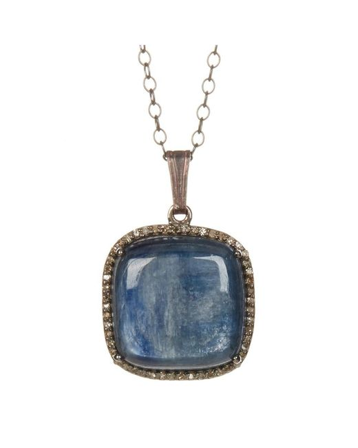 Adornia | Blue Kyanite And Champagne Diamond Zora Necklace | Lyst