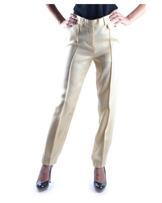 Céline - Women's Yellow Viscose Pants - Lyst