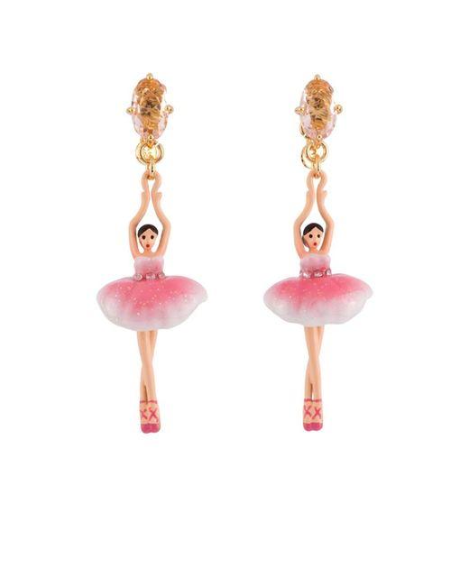 Les Nereides - Pas De Deux Sparkling Pink Ballerina Earrings - Lyst