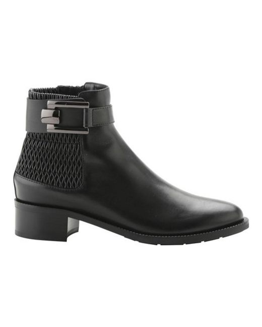 Aquatalia | Black Women's Odette Stretch Leather Buckle Bootie | Lyst