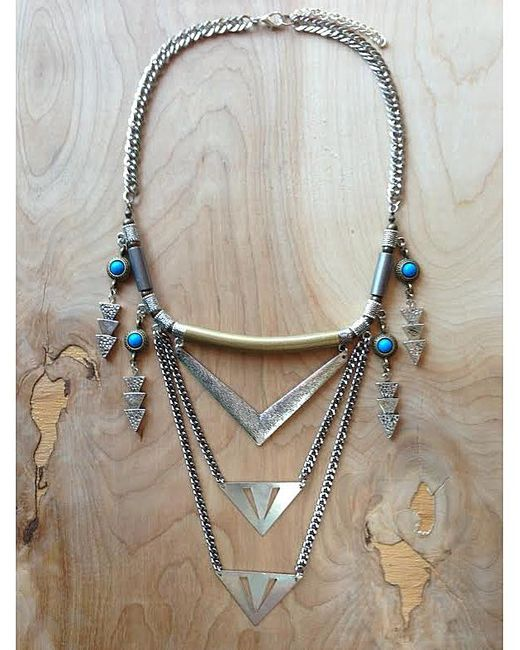 Love Leather   Multicolor Royal Shield Necklace   Lyst