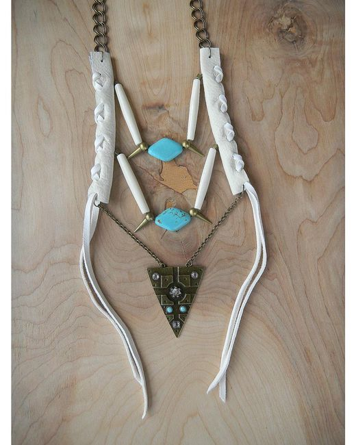 Love Leather | Multicolor Warrior Necklace | Lyst