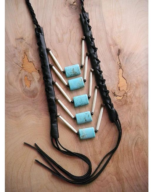 Love Leather   Multicolor Rock Necklace   Lyst