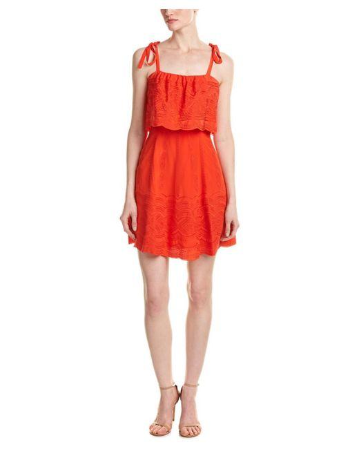 Parker   Orange Nia Silk A-line Dress   Lyst