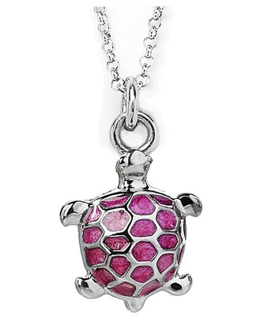 Jan Leslie   Pink Enamel Turtle Pendant / Charm Necklace   Lyst