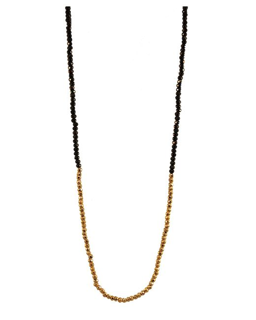Adornia | Metallic Black Spinel And Pyrite Belle Necklace | Lyst