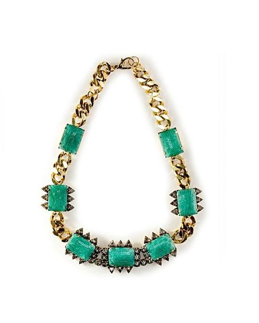 Nicole Romano | Green Bohai Necklace | Lyst