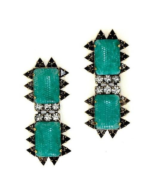 Nicole Romano | Green Chao Earrings | Lyst