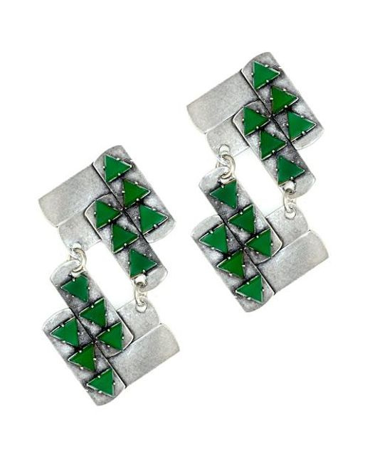 Nicole Romano | Green Nuwa Earrings | Lyst