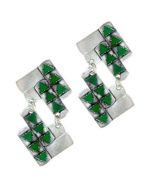 Nicole Romano   Green Nuwa Earrings   Lyst