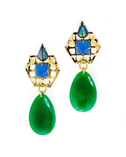 Nicole Romano | Green Shunyuan Earrings | Lyst