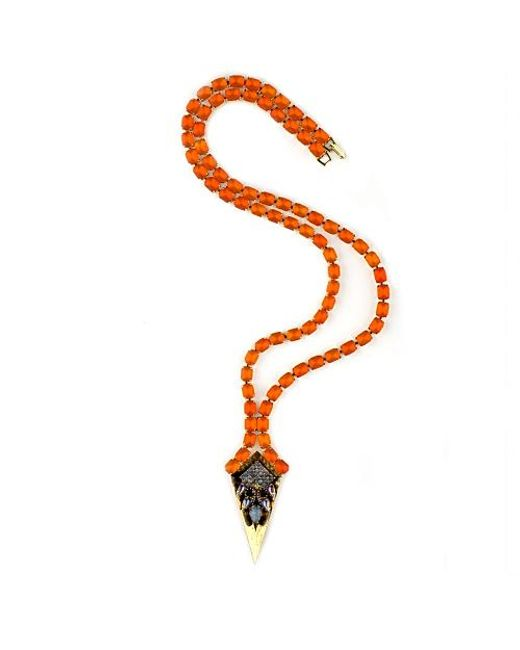 Nicole Romano | Orange Vivian Necklace | Lyst