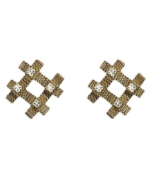 Nicole Romano | Metallic Fina Earrings | Lyst