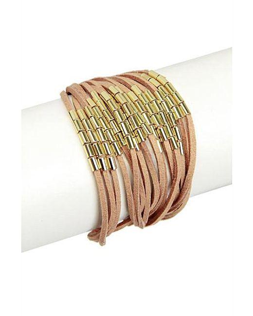 Saachi   Natural Suede String Bracelet   Lyst