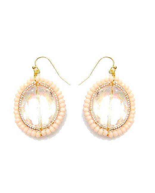 Nakamol | Multicolor Crystal Eye Earrings-cream | Lyst