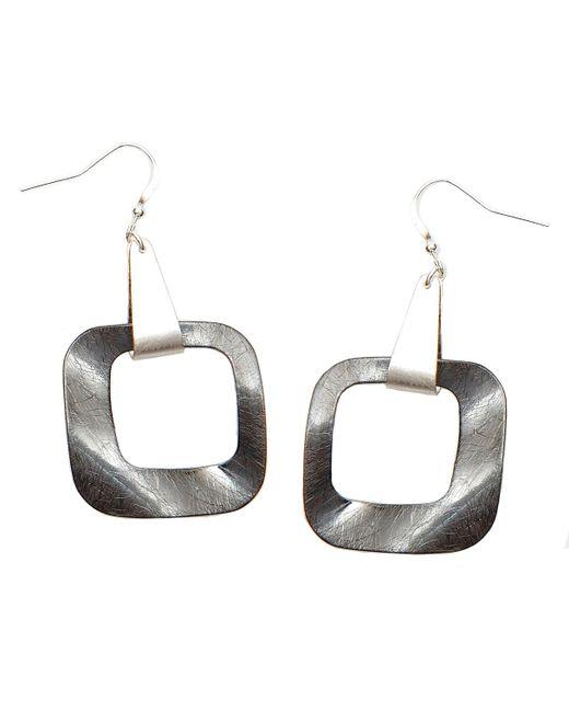 Nakamol   Metallic Equilibrium Earrings-gunmetal   Lyst