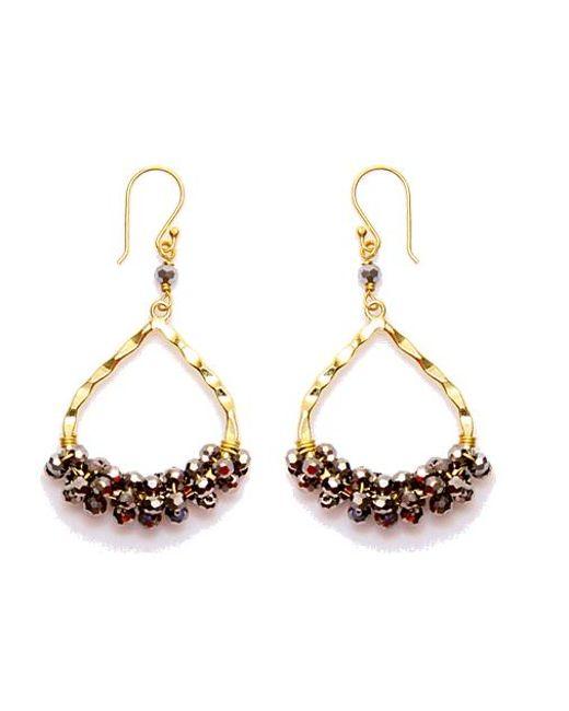 Nakamol   Multicolor Wishbone Earrings-silver Crystal   Lyst