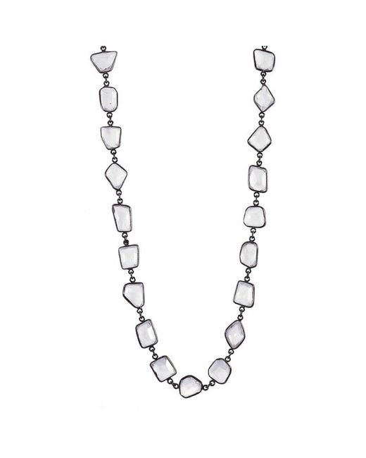 Adornia   White Moonstone Mila Necklace   Lyst
