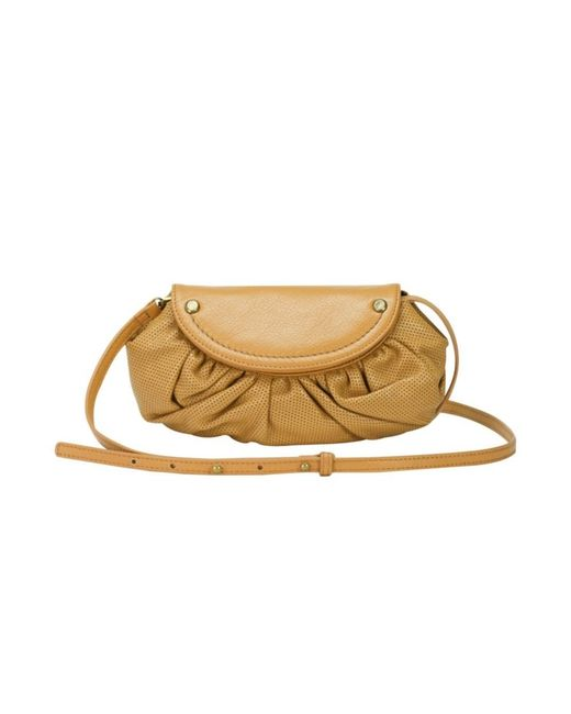 Mofe   Natural Bijou Convertible Crossbody-clutch In Perforated Leather With Rivet Studs And Adjustable Strap   Lyst