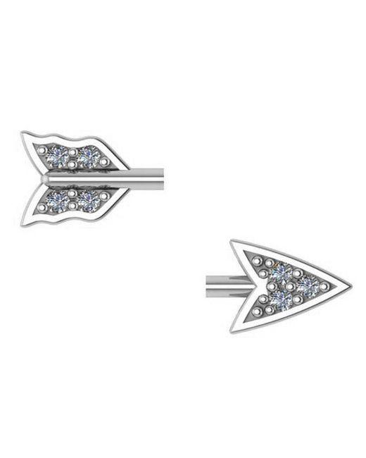 Adornia   Metallic Sterling Silver And Diamond Broken Arrow Earrings   Lyst