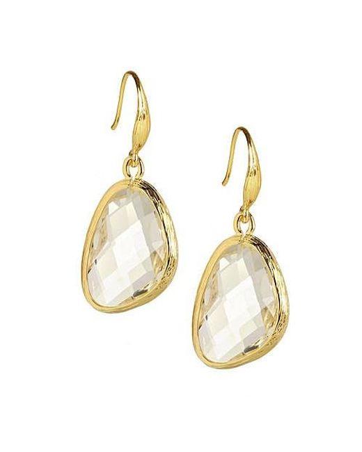 Saachi | Metallic Clear Quartz Gold Earring | Lyst