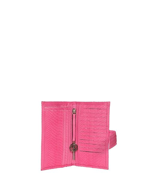 Cashhimi | Pink Genuine Python Continental Wallet | Lyst