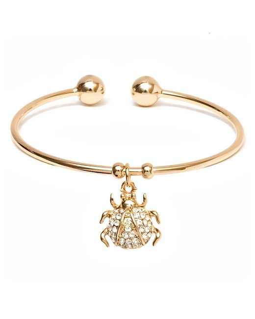 Peermont | Metallic Gold And Swarovski Elements Ladybug Charm Cuff | Lyst