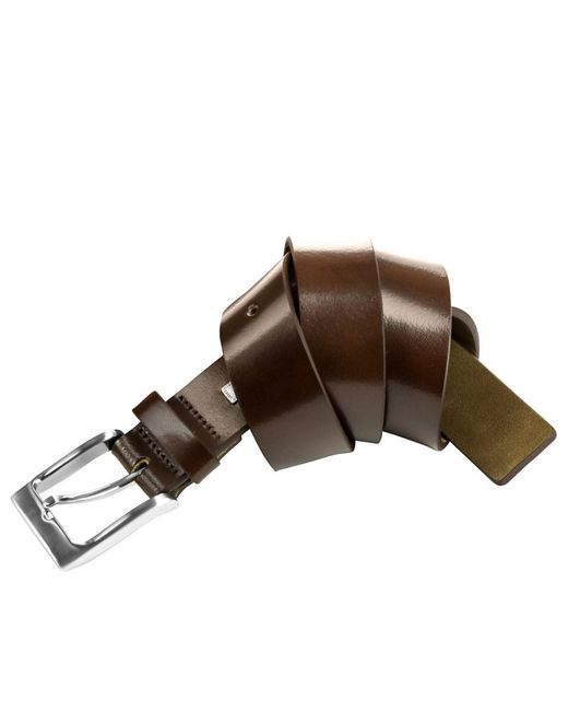 Steve Madden - Black 35mm Burnished Leather Belt for Men - Lyst