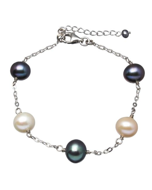 Splendid | Multicolor Tin Cup Sterling Silver Pearl Bracelet | Lyst