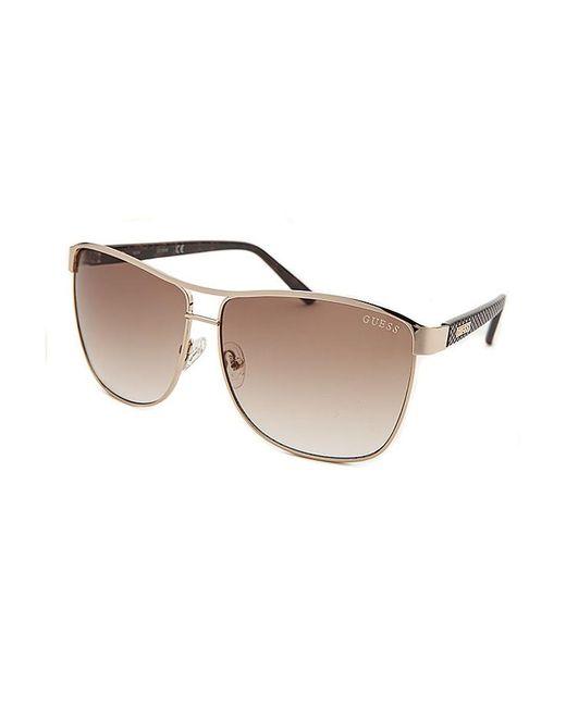 9b88ad0c83 Guess Women  39 s Square Gold-tone Sunglasses in Brown
