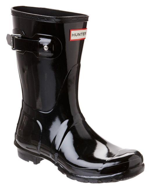 Hunter | Black Original Refined Short Gloss Boots | Lyst
