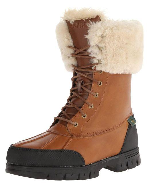 Ralph Lauren - Brown Lauren Women's Quinta Boot - Lyst