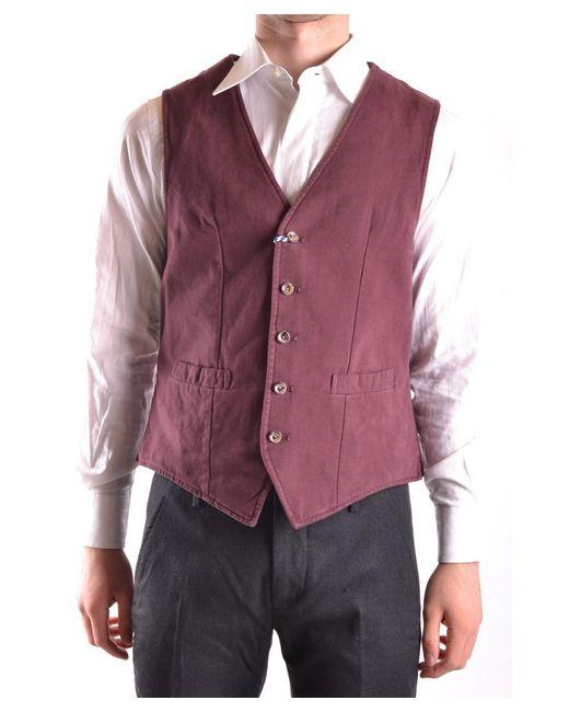 AT.P.CO - Red Men's Burgundy Cotton Vest for Men - Lyst