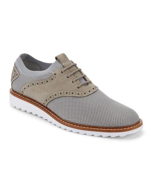 G.H.BASS - Gray Men's Buck 2.0 Plain-toe Knit Oxfords for Men - Lyst