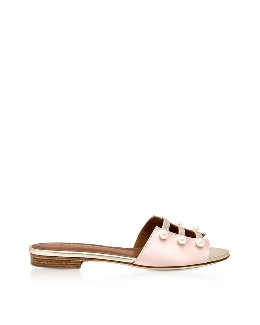 Malone Souliers - Women's Pink Satin Sandals - Lyst