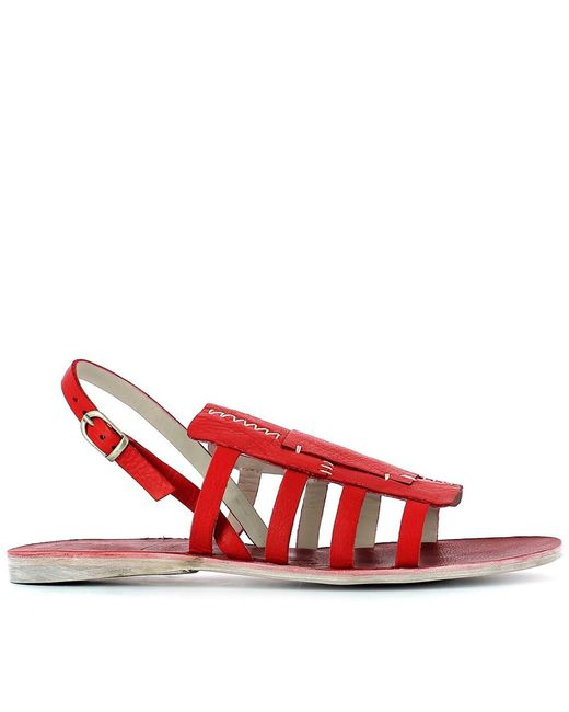Henry Beguelin | Women's Red Leather Sandals | Lyst