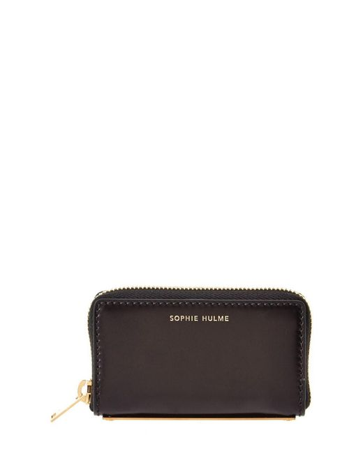 Sophie Hulme - Black Rosebery Leather Coin Purse - Lyst