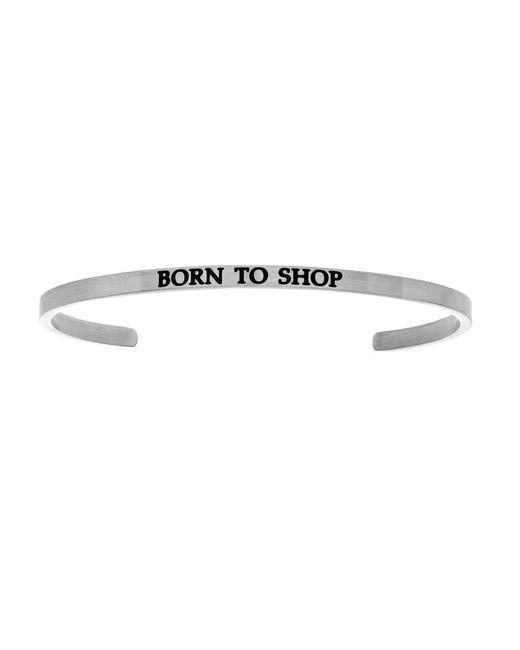 Angelica - White Born To Shop Diamond Cuff Bangle - Lyst
