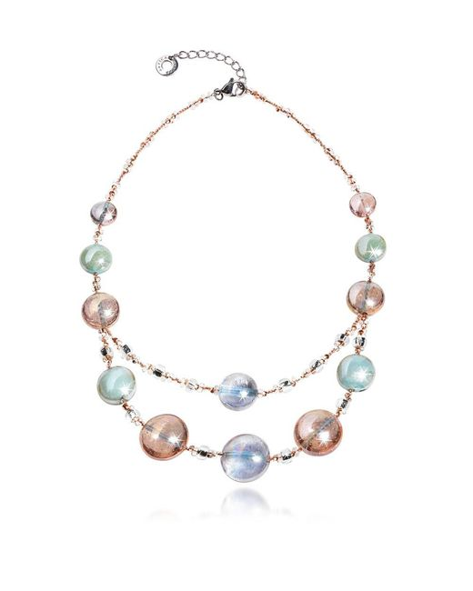 Antica Murrina - Women's Pink Steel Necklace - Lyst