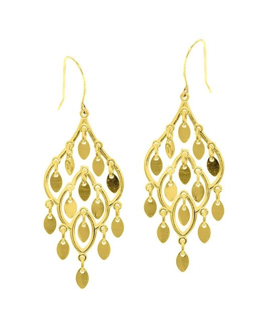 JewelryAffairs | 10k Yellow Gold Fancy Chandelier Drop Earrings With French Wire Clasp | Lyst