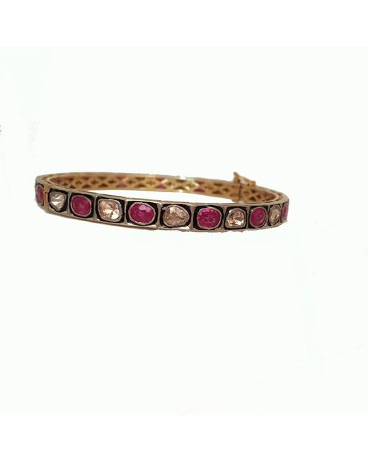 Blue Candy Jewelry | Red Sliced Diamond Ruby Bangle | Lyst