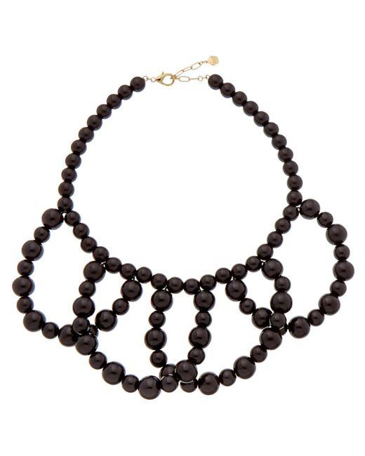 Trina Turk   Black 'legendary Summer' Plated Enamel Necklace   Lyst