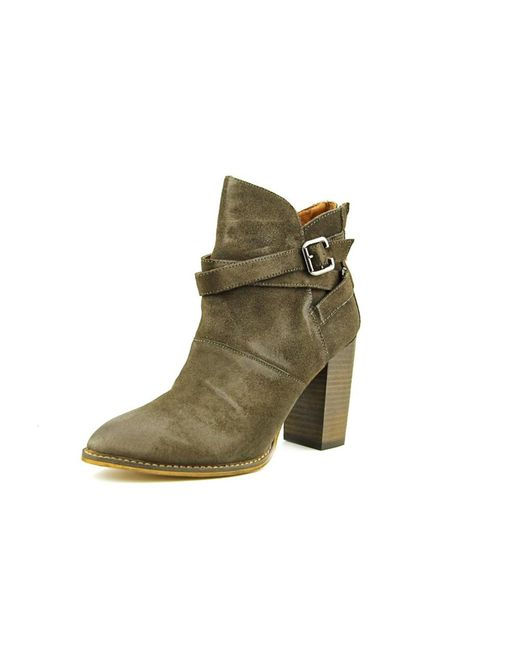 Chinese Laundry | Brown Zip It Pointed Toe Suede Ankle Boot | Lyst