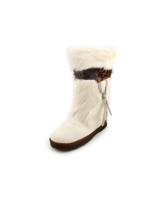 BEARPAW | Brown Kola Ii Women Round Toe Suede Snow Boot | Lyst