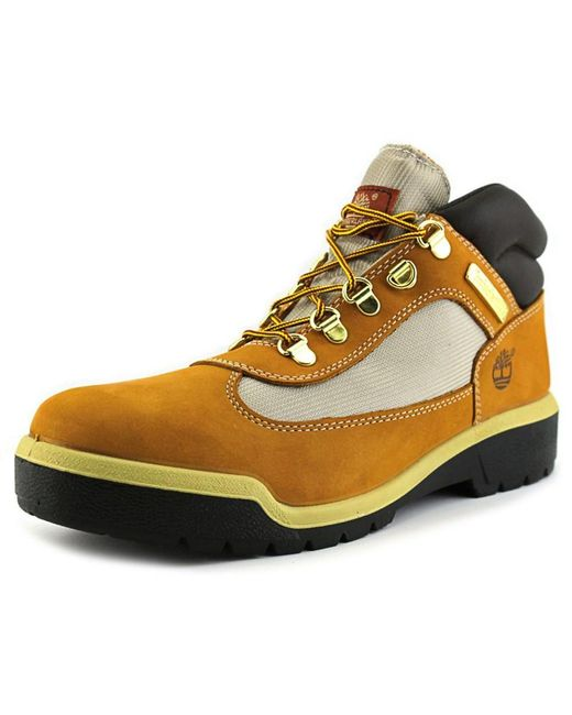 Timberland | Field Boot Waterproof Men Round Toe Leather Brown Work Boot for Men | Lyst
