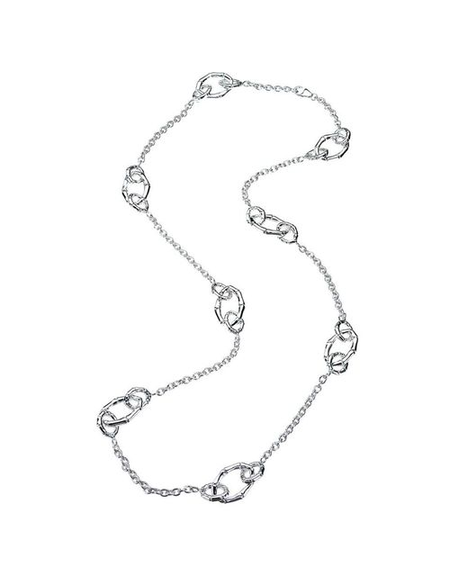 Jewelista | White Sterling Silver Multi-link Station Necklace | Lyst