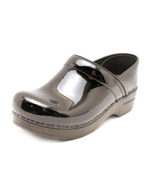 Dansko | Black Professional Box Round Toe Patent Leather Clogs | Lyst